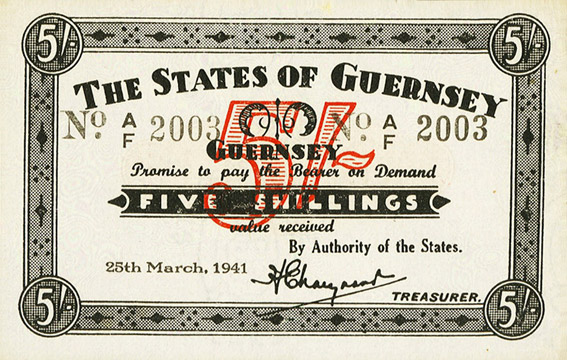 5 shillings Type 1941 Pick##19