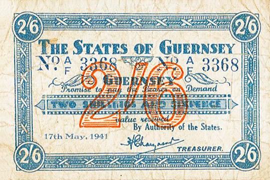 2 shillings 6 pence Type 1941 Pick##20