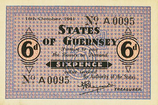6 pence Type 1941 Pick##22