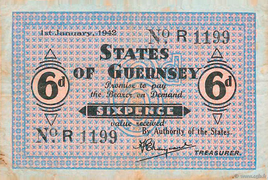 6 pence Type 1942 Pick##24