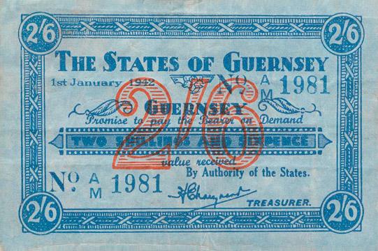 2 shillings 6 pence Type 1942 Pick##25A
