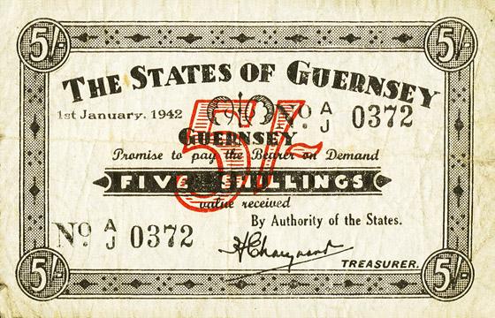 5 shillings Type 1942 Pick##25B