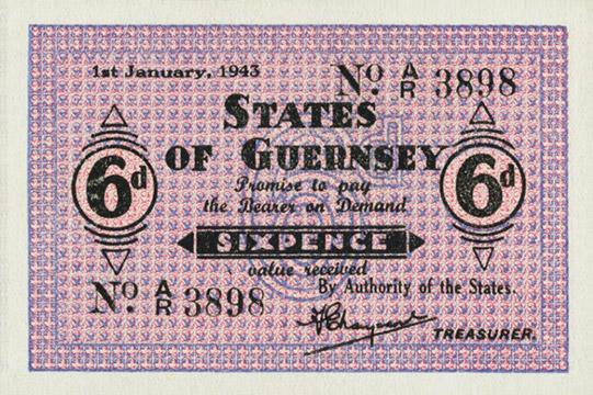 6 pence Type 1943 Pick##28