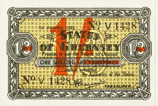 1 shilling sur 1 shilling 3 pence Type 1943 Pick##29