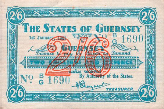 2 shillings 6 pence Type 1943 Pick##30