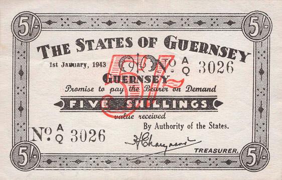 5 shillings Type 1943 Pick##31