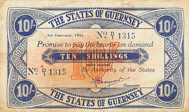 10 shillings Type 1945 Pick##32
