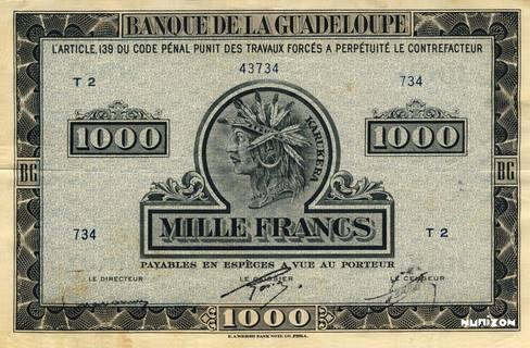 1000 francs Type 1942 grand (US) Pick##26