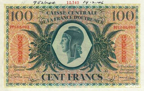 100 francs Type 1943  (GB) Pick##29