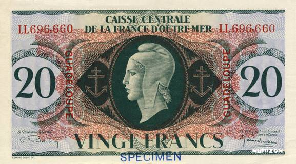 20 francs Type 1943  (GB) Pick##28