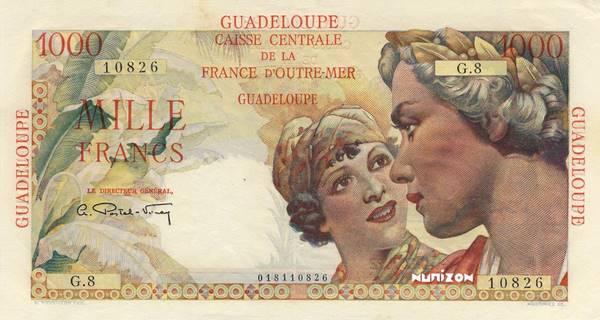 1000 francs Union française Type 1946  Pick##37