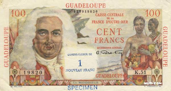 1 NF/100 francs La Bourdonnais Type 1960  Pick##41