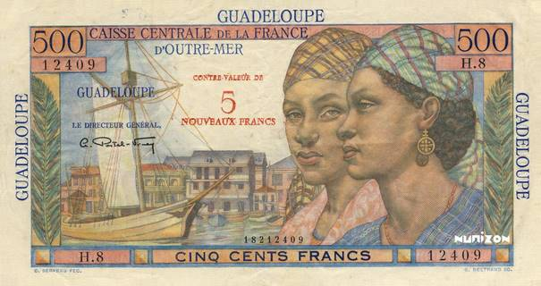 5 NF/500 francs Pointe à Pitre Type 1960  Pick##42
