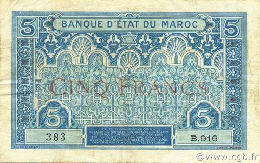 5 francs Type 1921  Pick##8