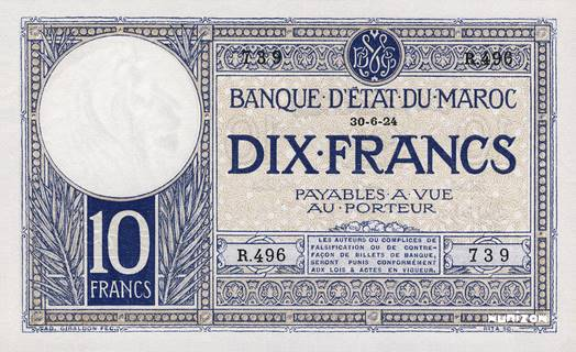 10 francs Type 1920-1928  Pick##11