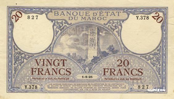 20 francs Type 1920-1926  Pick##12