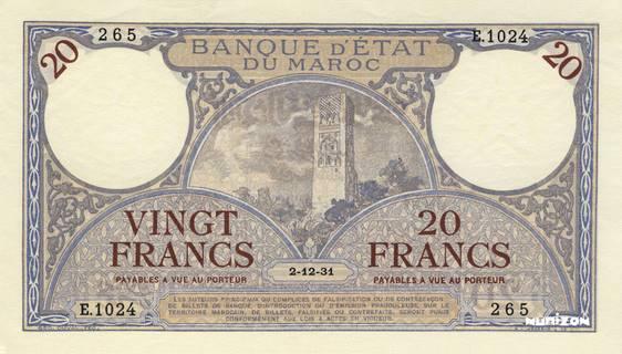20 francs Type 1929-1945  Pick##18
