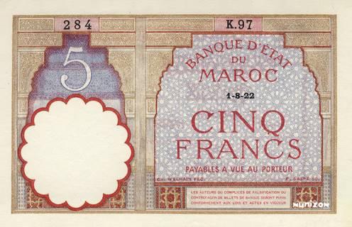 5 francs Type 1922  Pick##23A