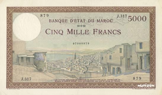 5000 francs Type 1937  Pick##23