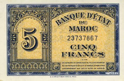 5 francs Type 1943  (US) Pick##24
