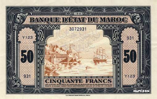 50 francs Type 1943  (US) Pick##26