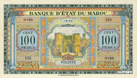 100 francs Type 1943  (US) Pick##27