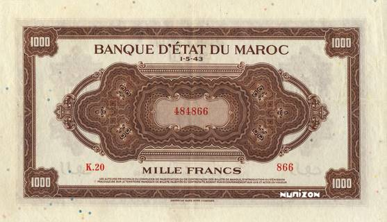 1000 francs Type 1943  (US) Pick##28
