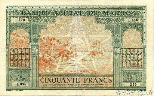 50 francs Type 1943 Casablanca  Pick##40