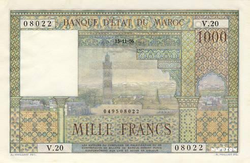 1000 francs Type 1951  Pick##47
