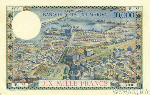 10000 francs Type 1953  Pick##50