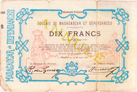 10 francs Type 1917 Pick##2