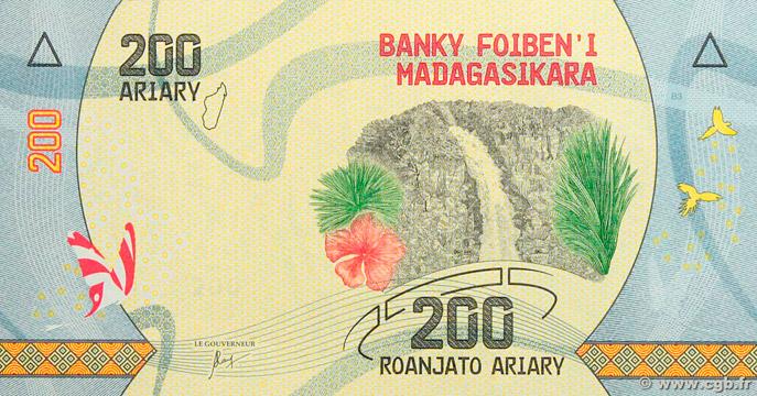 200 Ariary Type 2017 Madagascar Pick##98