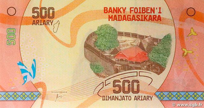 500 Ariary Type 2017 Madagascar Pick##99