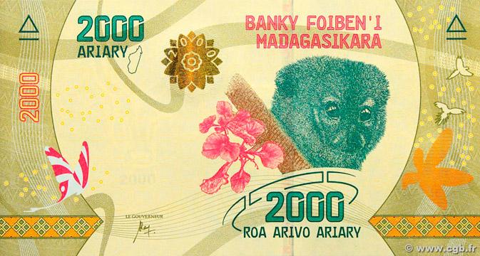 2000 Ariary Type 2017 Madagascar Pick##101