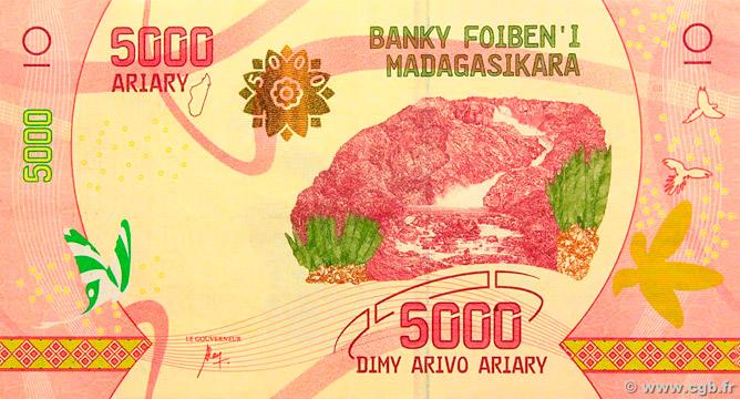 5000 Ariary Type 2017 Madagascar Pick##102