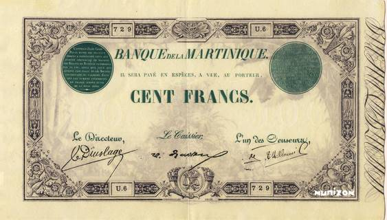 100 francs Vert et Noir Type 1852  Pick##8