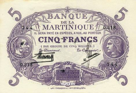 5 francs Violet Type 1901  Pick##6