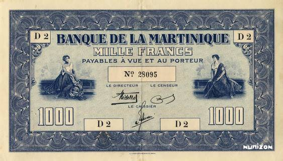 1000 francs Type 1942  (US) Pick##20