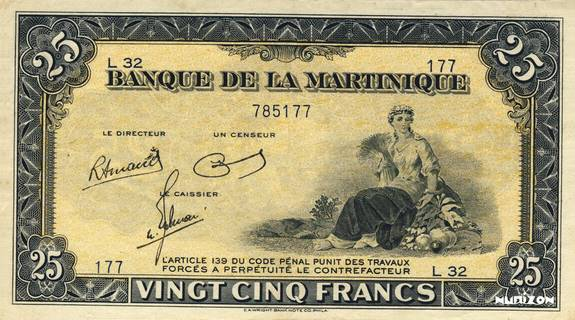 25 francs Type 1942  (US) Pick##17