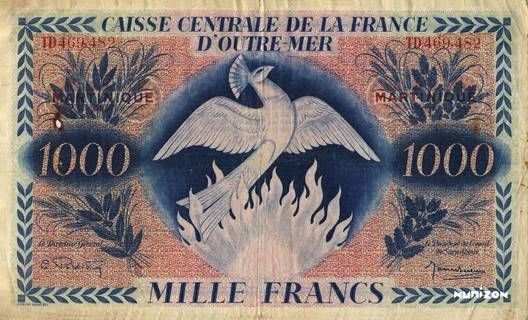 1000 francs Type 1943  (GB) Pick##26