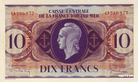 10 francs Type 1943  (GB) Pick##23