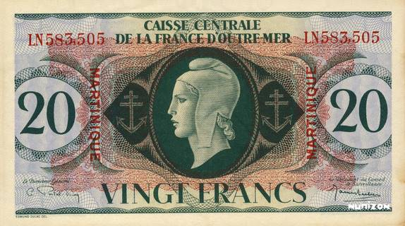 20 francs Type 1943  (GB) Pick##24