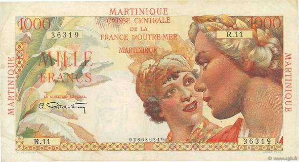 1000 francs Union française Type 1946  Pick##33
