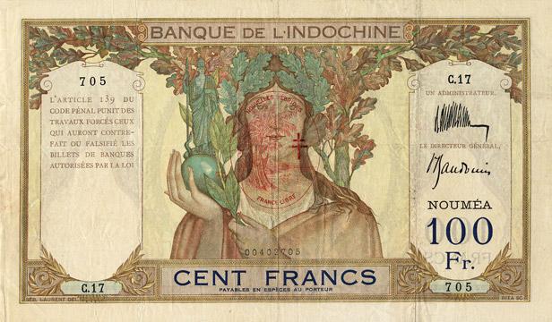 100 francs Nouvelles-Hébrides Type 1941 Pick##9