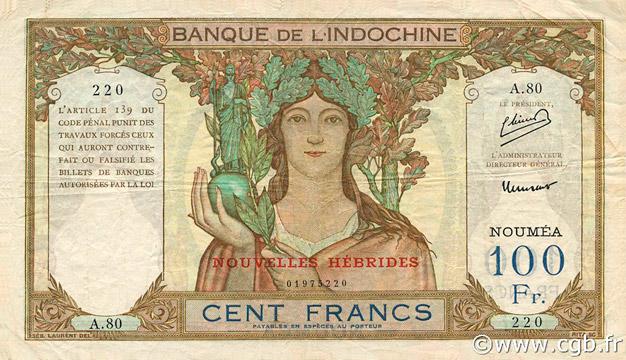 100 francs Nouvelles-Hébrides Type 1945 Pick##10