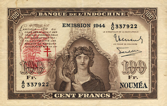 100 francs Nouvelles-Hébrides Type Minerve Pick##10A/#11/#12
