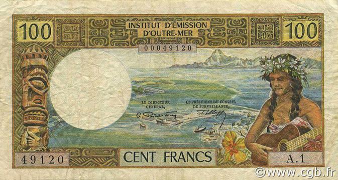 100 francs Nouvelles-Hébrides Type 1965 Pick##16