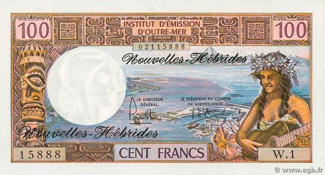 100 francs Nouvelles-Hébrides Type 1970 Pick##18