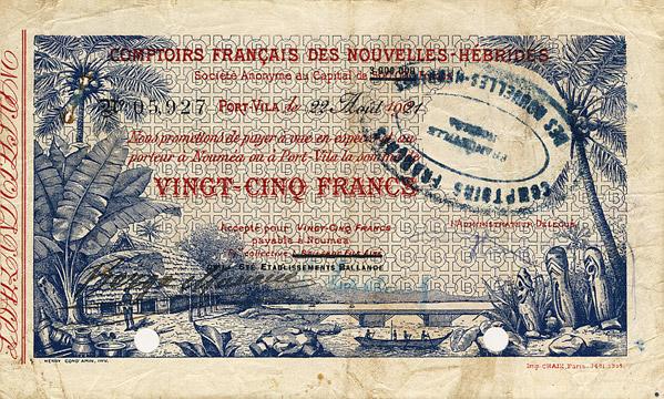 25 francs Type 1921 Ballande Pick##A1