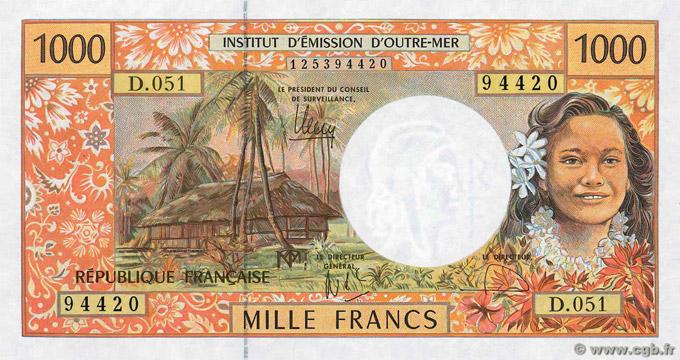 1000 francs Polynésie française Type 1995 Pick##2